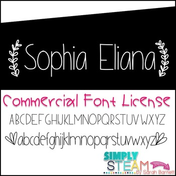 Font: Bubbles Sophia Eliana Commercial License