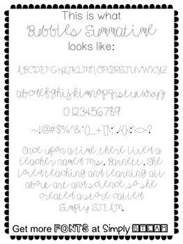 Font: Bubbles Summatime Commercial Font License