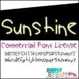 Font: Bubbles Sunshine Commercial License