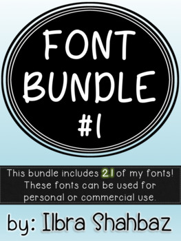 Font Bundle #1 - Personal and Commercial Use