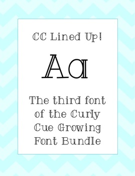 Font - CC Lined Up
