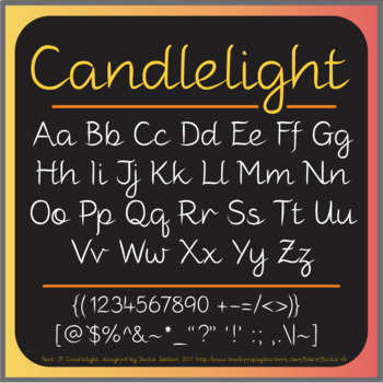 Font: Candlelight (True Type Font)
