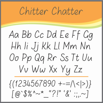 Font: Chitter Chatter (True Type Font)