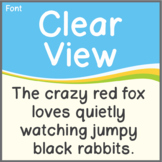 Font: Clear View (True Type Font)