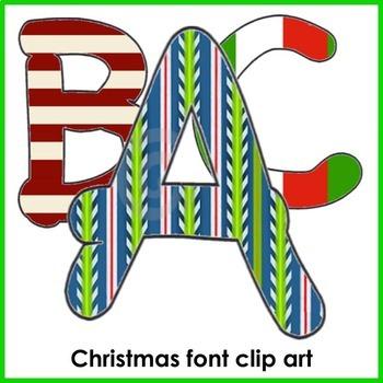 Font Clip Art BUNDLE (Christmas, animals, fruits & veges)