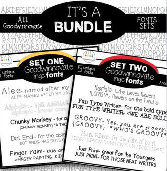 Font Bundle Commercial Fonts for Teachers