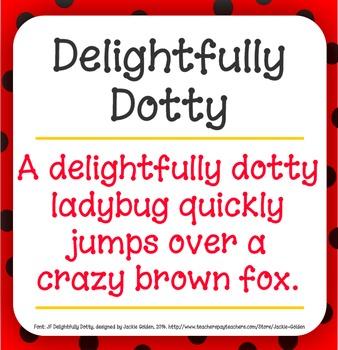 Font: Delightfully Dotty (True Type Font)