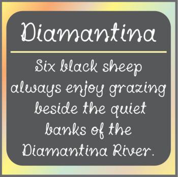 Font: Diamantina (True Type Font)