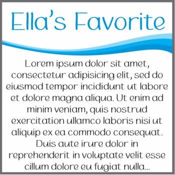 Font: Ella's Favorite (True Type Font)
