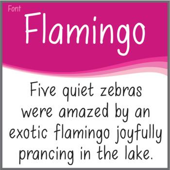 Font: Flamingo (True Type Font)