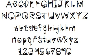 Font For Personal or Commercial Use: Loving You