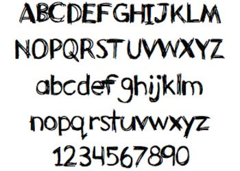 Font For Personal or Commercial Use: Sketchy