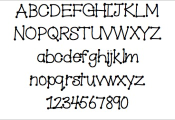 Font For Personal or Commercial Use: Tiny Toes