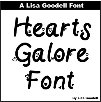 Font Freebie: Hearts Galore (Every letter has a heart)