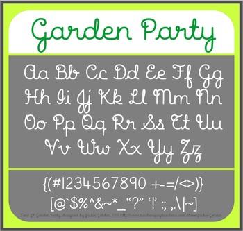 Font: Garden Party - cursive script font (True Type Font)