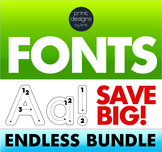 Font Endless Bundle • Letter Tracing Font • Handwritten Fonts - Dot it Fonts