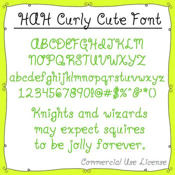 Font:  HAH Curly Cute (with commercial use license)