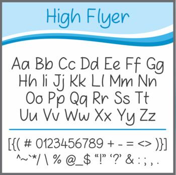 Font: High Flyer (True Type Font)