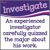 Font: Investigate (True Type Font)