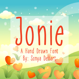 Font Jonie TTF Font with Glyphs
