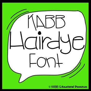 Font.  KABB Hairdye Font