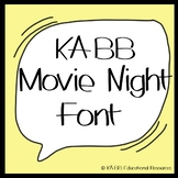 Font.   KABB Movie Night Font