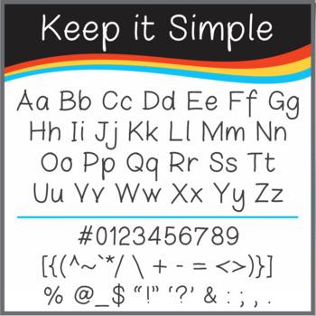 Font: Keep it Simple (True Type Font)