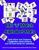 Font - Letter / Alphabet Recognition Mats & Cards - Presch
