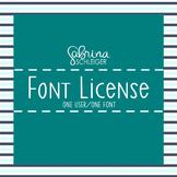 Font License- 1 Font Commercial Use License