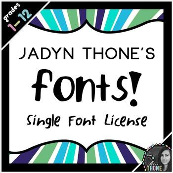 Font License - Single Font