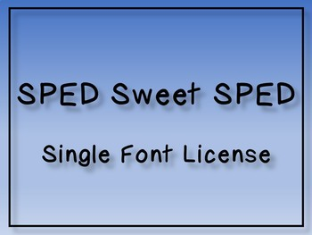 Font License - Single Font