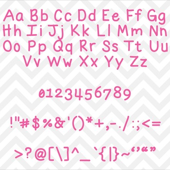 Font Lil Fatty TTF Font with Glyphs