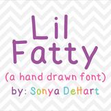 Font Lil Fatty TTF Font with Glyphs