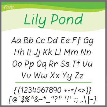 Font: Lily Pond (True Type Font)