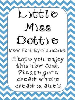 Font, Little Miss Dottie