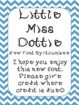 Font, Little Miss Dottie