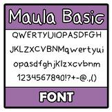 Font - Maula Basic