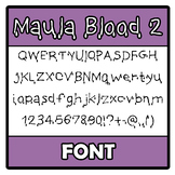 Font - Maula Blood 2 (Halloween Special)