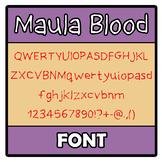 Font - Maula Blood