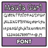 Font - Maula Curl