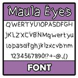 Font - Maula Eyes