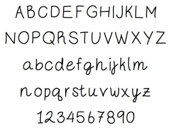 Font - Ms. Schmidt Authentic Handwriting