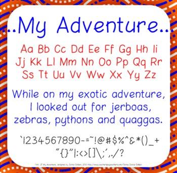Font: My Adventure (True Type Font)