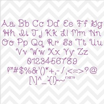 Font Nahia TTF Font with Glyphs