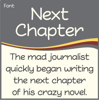 Font: Next Chapter (True Type Font)