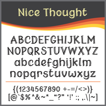Font: Nice Thought (True Type Font)