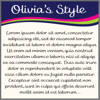 Font: Olivia's Style (True Type Font)