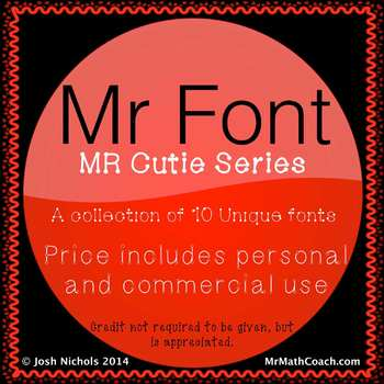 Font Pack Mr CUTIE Collection Personal and Commercial USE