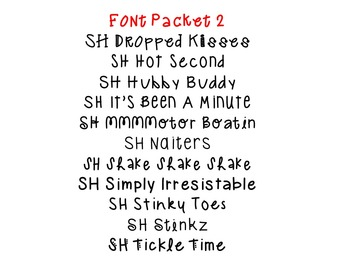 Font Packet 2