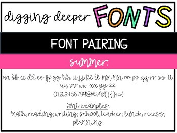 Font Pairing: 2 Coordinating Fonts